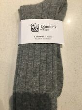 Johnstons of Elgin Mens Socks cashmere new with tags - Grey - RRP £59 Size 7-9