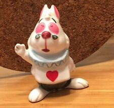 "Disney Alice In Wonderland White Rabbit Ceramic Figurine mint 3"" H Rare"