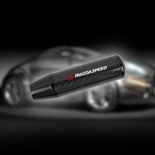 Universal Mazdaspeed Black Carbon Fiber Manual Gear Shift Knob Lever Shifter 5
