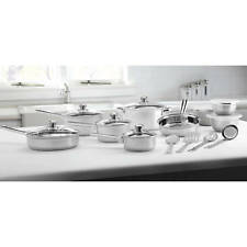 Cookware Set Kitchen Stainless Steel 18-Piece Pots and Pans Mainstays
