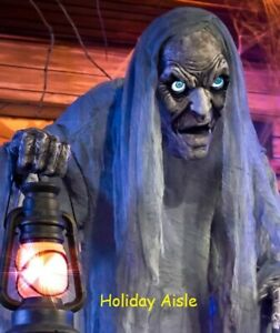 7 Ft WAILING PHANTOM Animated Halloween Prop DIGITAL EYES Cemetery