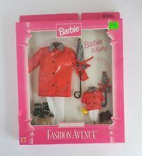Barbie and Kelly Fashion Avenue Matchin' Styles Red Raincoat Nib