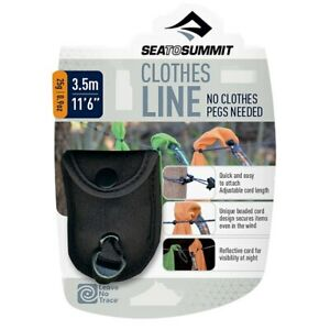 Sea To Summit Pegless Camping Clothes Line - Black