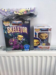 Funko Pop MOTU Glow In The Dark Skeletor And T Shirt Set L
