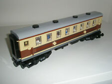 Lego Train - Custom Dining Coach - Tan + Brown - New - Emerald steam 10194