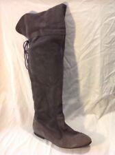Ladies Grey Over Knee Suede Boots Size 38