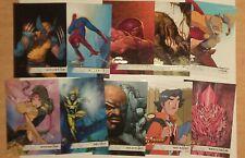 2019 Marvel Fleer Flair Flairium Tier 1 Complete Set 91-100 Wolverine Spider-Man