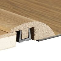 Real Solid Oak Ramp For Wood Flooring Trim Door Threshold Bar Reducer NEW