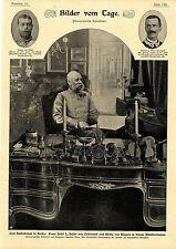 Franz Josef I. Kaiser von Oeterreich und König von Ungarn in seinem Arbei...1900
