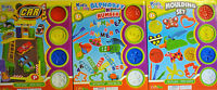 Kids Dough Toy Play Dough Activity Set (4 Tubs) Car, Moulding, Alphabet & Number