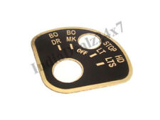 ROTERY LIGHT SWITCH DATA PLATE FOR VINTAGE JEEP WILLYS MB GPW  BRAND NEW