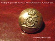 Vintage Royal Artillery Brass Button.Buttons Ltd. B,ham.24mm. AH9726