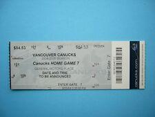 2004/05 VANCOUVER CANUCKS NHL PLAYOFFS HOME GAME 7 HOCKEY TICKET STUB SHARP!!