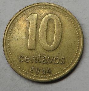 Argentina 10 Centavos 2004 Aluminum-Bronze KM#107