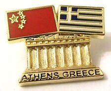 Pin Spilla Olimpiadi Athens 2004 Greece/China Flags