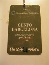 Fashion Week New York 2014 Mercedes-Benz Custo Barcelona laminated pass