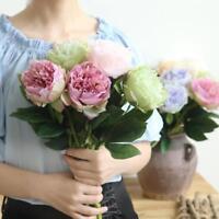 Artificial Silk Fake Flowers Peony Floral Home Bouquet Bridal Hydrangea Decor