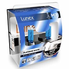 Lunex H7 Halogen Platinum White Max White Effect Headlight Car Bulbs 4000k Twin