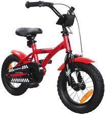 PROMETHEUS Kinderfahrrad 12 Zoll Kinderrad Rot Schwarz ab 3 Jahren Modell 2016