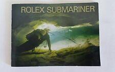 ROLEX SUBMARINER Genuine Booklet 594.54 Manual Brochure SPANISH Broschüre 2002