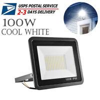 100W Cool White LED Flood Light Lamp Outdoor Garden Yard Lighting Spotlight IP66