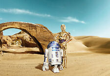 Star Wars Wall Mural Photo Wallpaper for Kids Room 368x254cm Lost Droids Desert