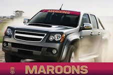 620402 MAROONS - STATE OF ORIGIN COLOUR VISOR BLOCK OUT DECAL CAR SOO QLD
