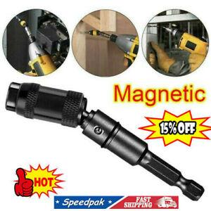 Black Tip Pivoting Steel Drill Swivel Bit Impact Magnetic Bit Screw Holder Hot
