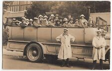 Bournemouth; Royal Blue Charabanc With Crew & Passengers RP PPC, Unposted c 1920