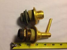 "Mid 1900's Kohler Gold Plated, set of 2 Soap Dispensers, 1"" dia, both partial"