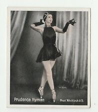 1930s German Dance Floors Of The World Tobacco card #064 Prudence Hyman