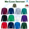 FRUIT OF THE LOOM Unisex Mens Classic 80/20 Raglan Crew Neck Sweatshirt Jumper