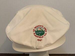 Vintage 1987 US Women's Open Plainfield CC Golf HAT White