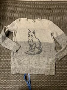 Orvis Womens Fox Sweater Size Large