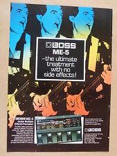 vintage magazine advert 1988 BOSS ME-5