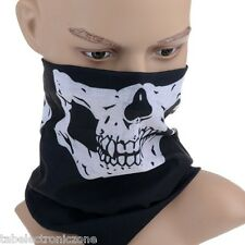 MULTIFUNCTIONAL Skull Black STYLISH SCARF UNISEX BANDANA, SEAMLESS BANDANAS