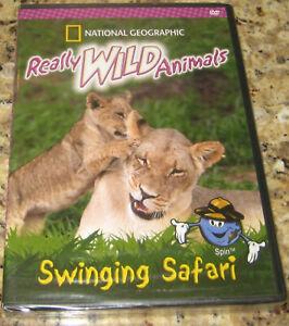 Really WILD Animals - Swinging Safari (DVD, 2005) National Geographic. NEW!