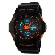 Kids Boys Digital Sport Watch Mens Date Alarm LED Analog Quartz Waterproof CA