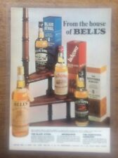 Vintage Laminated Whiskey Advert Advertising Bells Scotch Whisky Inchgower