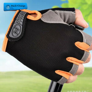 Unisex Sport Cycling Half Finger Gloves Gym Weight Lifting Wrist Wrap Colorful