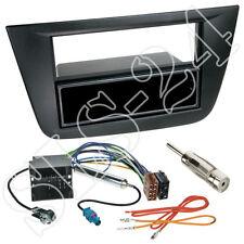 Seat Altea Toledo 2-DIN Blende+Fach schwarz + Quadlock Adapter Antenne Einbauset