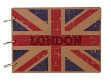 DIY Kraft 30Pages MDF Wood Cover Photo Album Wedding Scrapbook LONDON