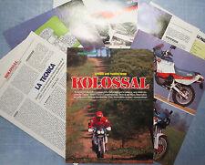 MOTOSPRINT988-PROVA / TEST-1988- APRILIA 600 TUAREG WIND - 8 fogli