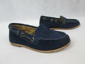 JANIE AND JACK 100023117 BOYS NAVY BLUE SUEDE LOAFER SHOES SZ:8 EUC