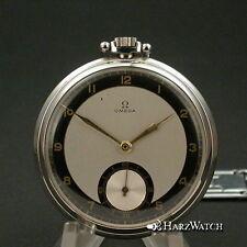 OMEGA  Lepine Taschenuhr Stahl - Frackuhr - Art Deco - 1938 !