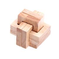 Casse-tête en bois en bois 3D IQ Casse-tête Acacia Kong Ming LoRZ