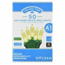 Holiday Time 50 LED WARM WHITE  MINI LIGHTS CHRISTMAS WEDDING INDOOR/ OUTDOOR