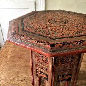 Early 20th century Lacquer Burmese Folding Table