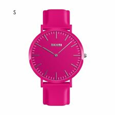 Fashion Unisex Jelly Color Couple Quartz Watch Silicone Band Casual Wristwatches