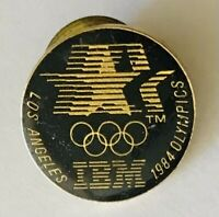 IBM Sponsor 1984 US Olympics Team Pin Badge Rare Vintage (H4)